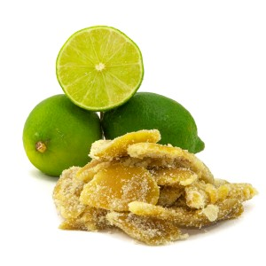 Low Carb Candied Lime Peel