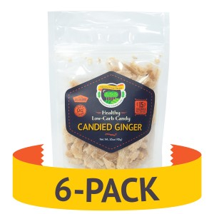 Keto candy - Candied Ginger - 6-pack